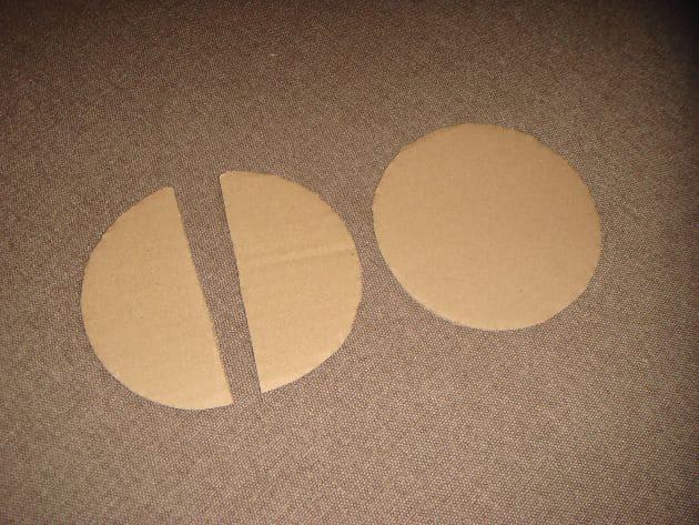 разрезание картонной основы